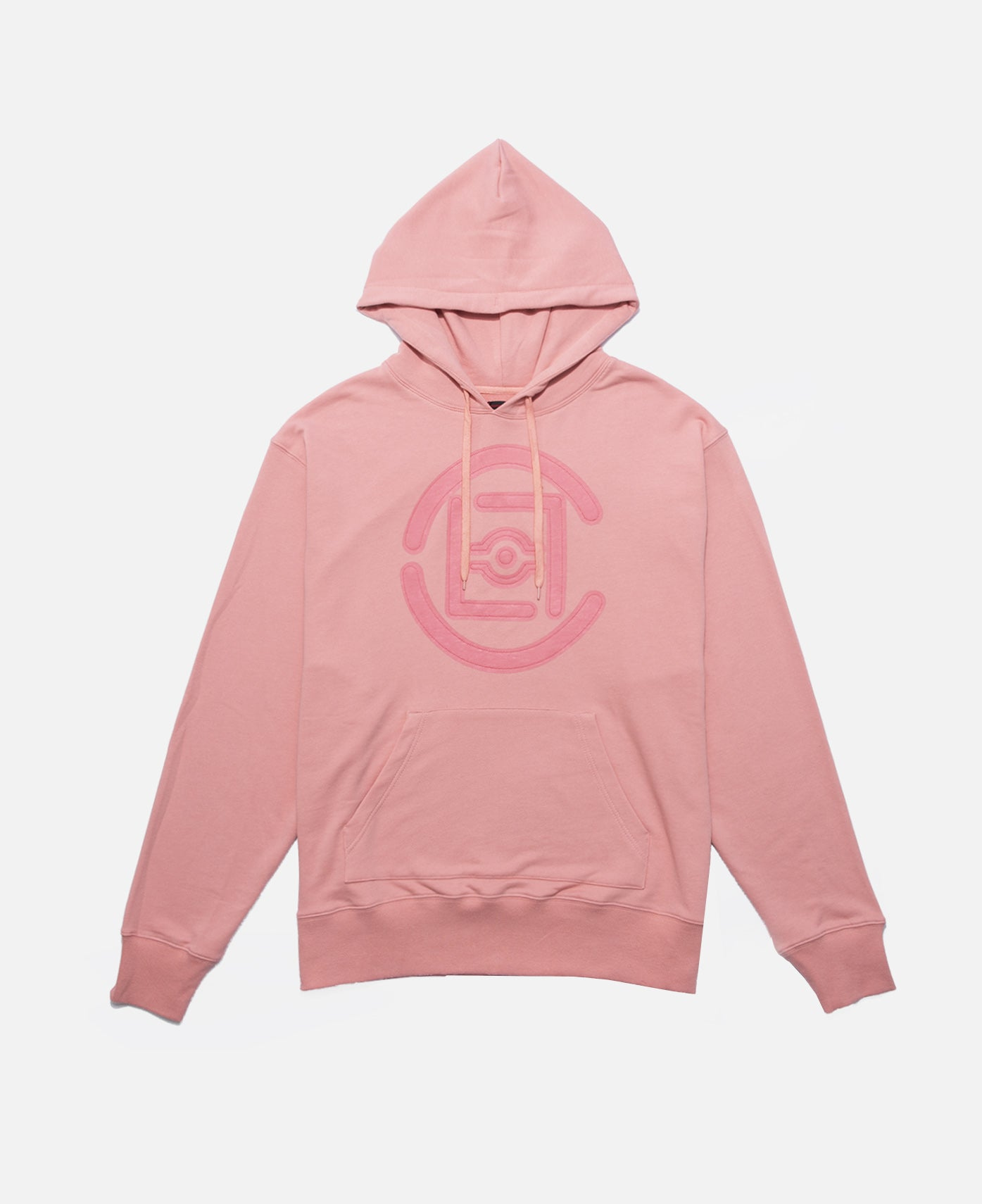 FIFTH ELEMENTAL CLOT LOGO APPLIQUE PULLOVER HOODIE (PINK)