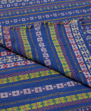 ETHNIC BLANKET, NAVY