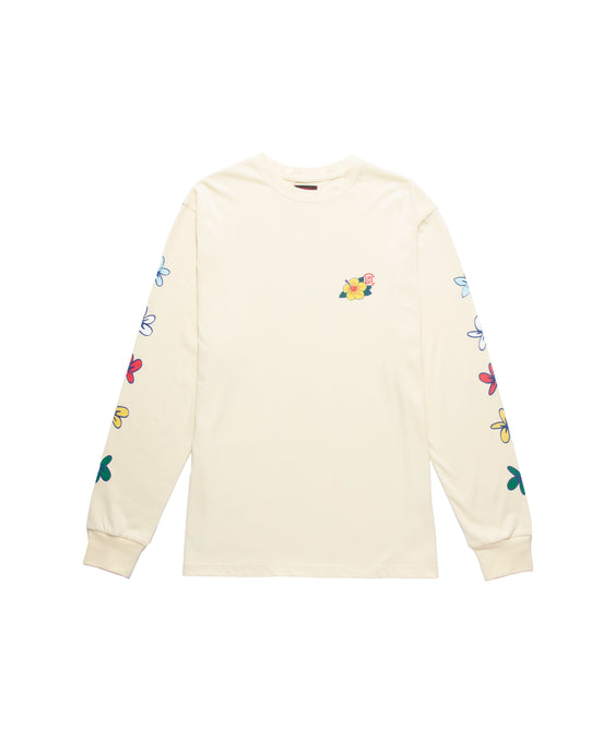 FLOWERS PRINT LS T-SHIRT