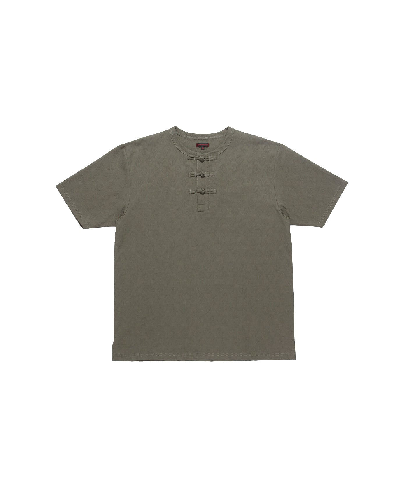 CHINESE HENLEY T-SHIRT, OLIVE