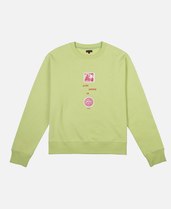 ALIEN AMONG US CREWNECK SWEAT (GREEN)
