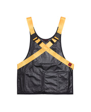 STRAPPED APRON VEST (BLACK)