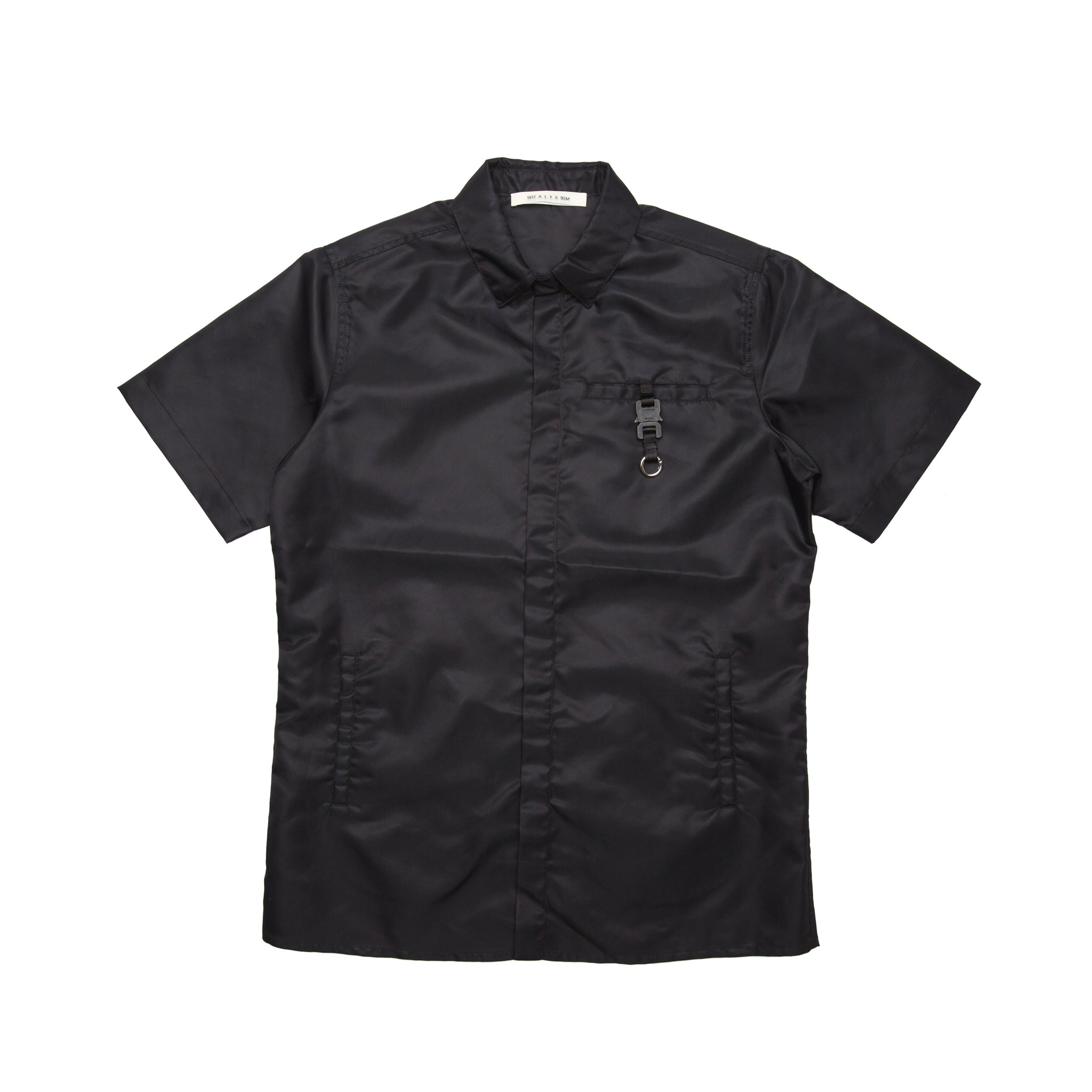 ALYX | BLACK S/S BUTTON UP W/ BUCKLE