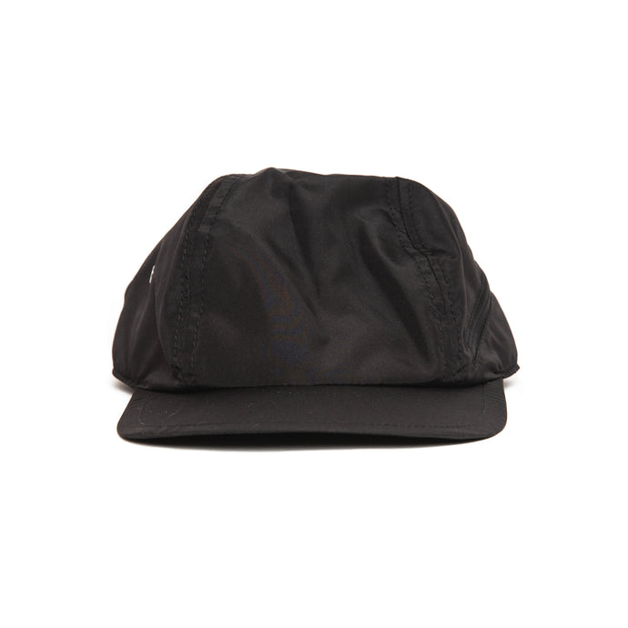 SOFT CLASSIC HAT WITH CURVED ZIP BLACK