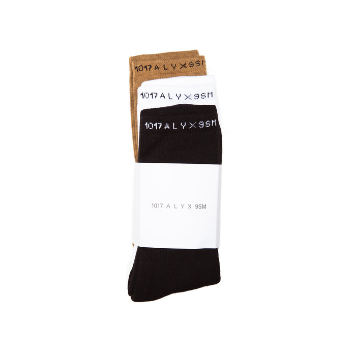 ALYX 3 PACK SOCKS MULTI