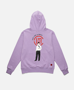 CLOT OFFICE MAN HOODIE, PURPLE
