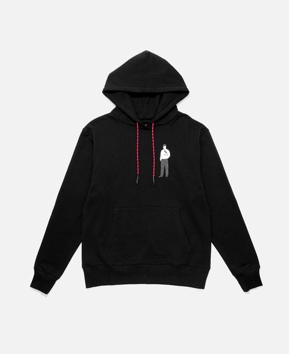 CLOT OFFICE MAN HOODIE, BLACK