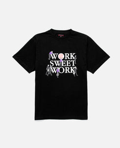 WORK SWEET WORK TEE, BLACK