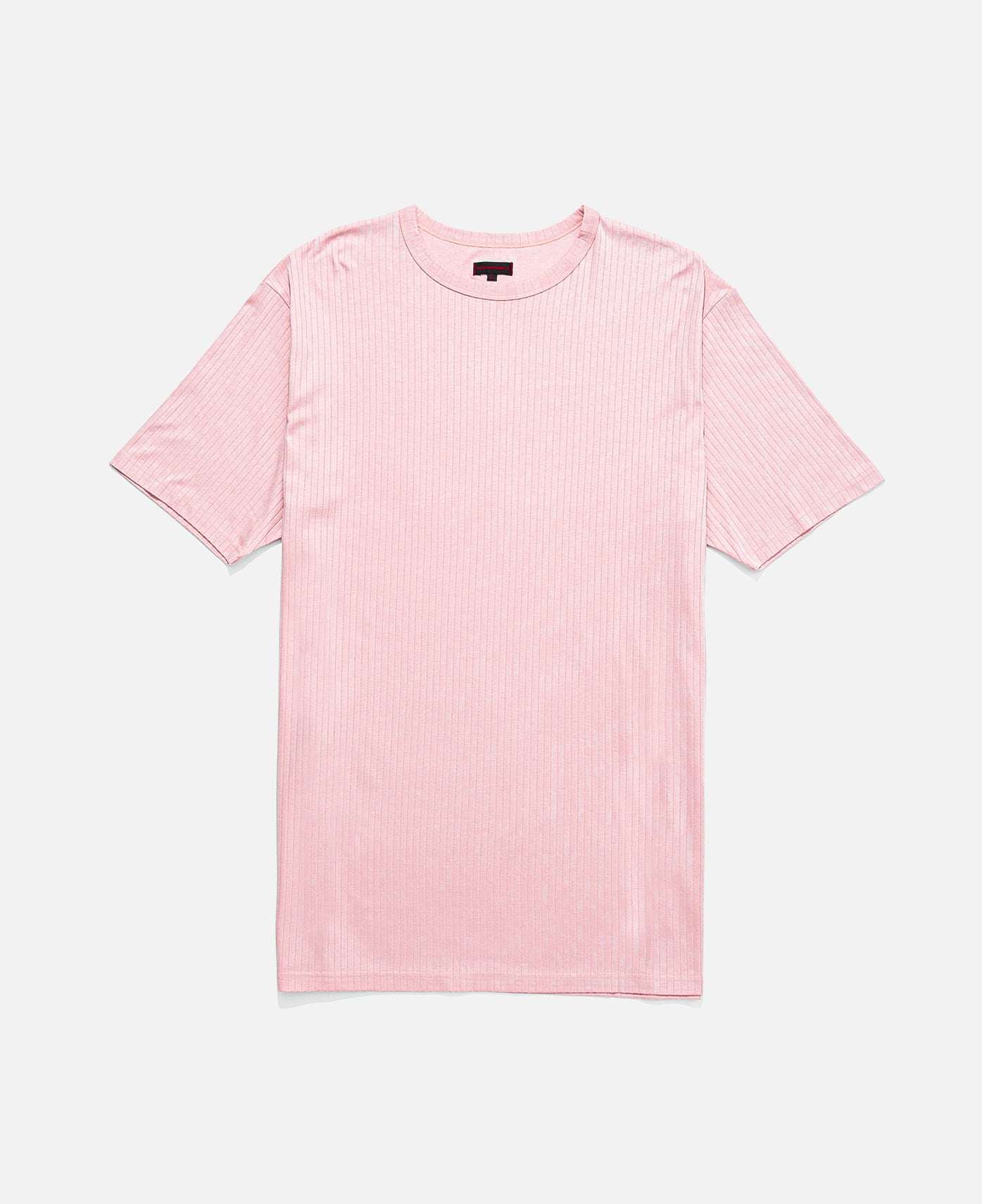 UNDERLAY RIBBED TEE LONG LENGTH, PINK