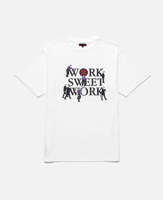 WORK SWEET WORK TEE, WHITE