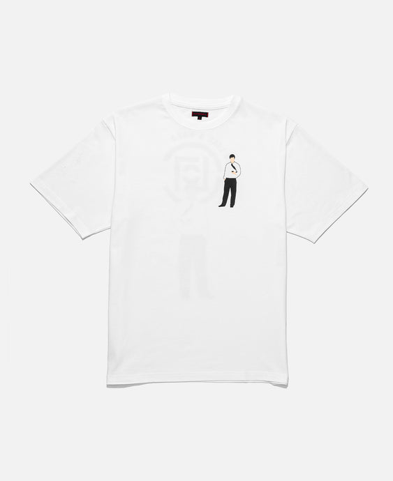 CLOT OFFICE MAN TEE, WHITE