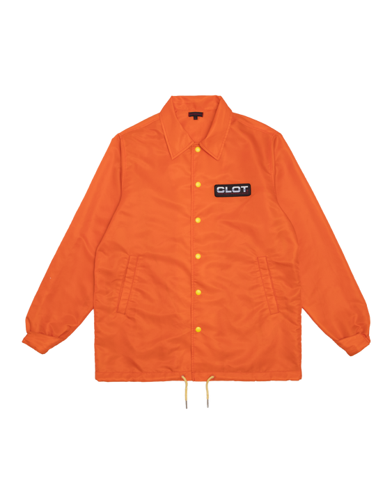 Clot Obey Your Master Coaching Jacket Orange