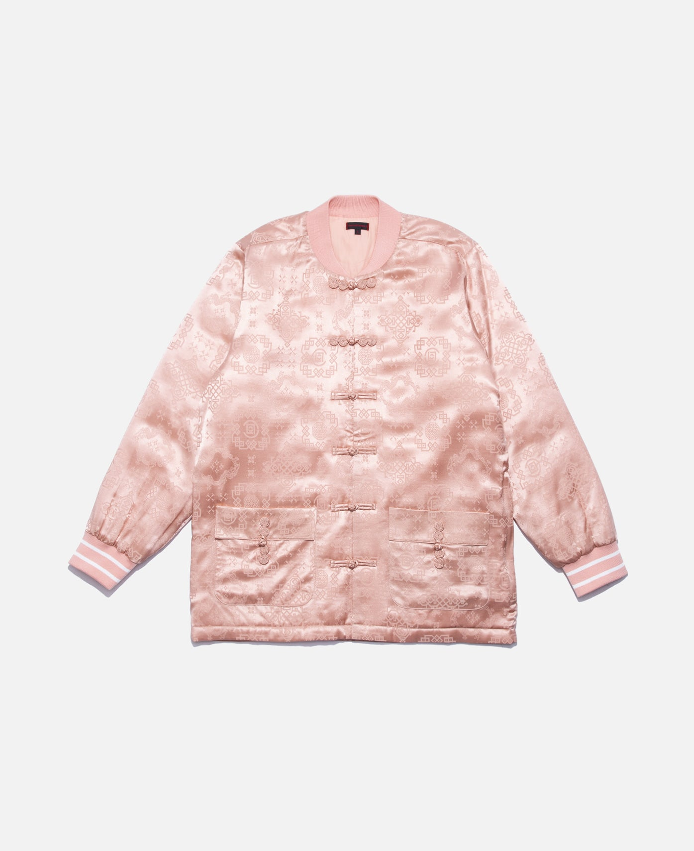 PINK SILK BASEBALL JACKET