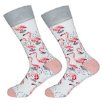 Dutch Pop vesele happy socks pisane nogavice flamingo