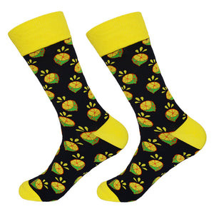 Dutch Pop vesele happy socks pisane nogavice limona