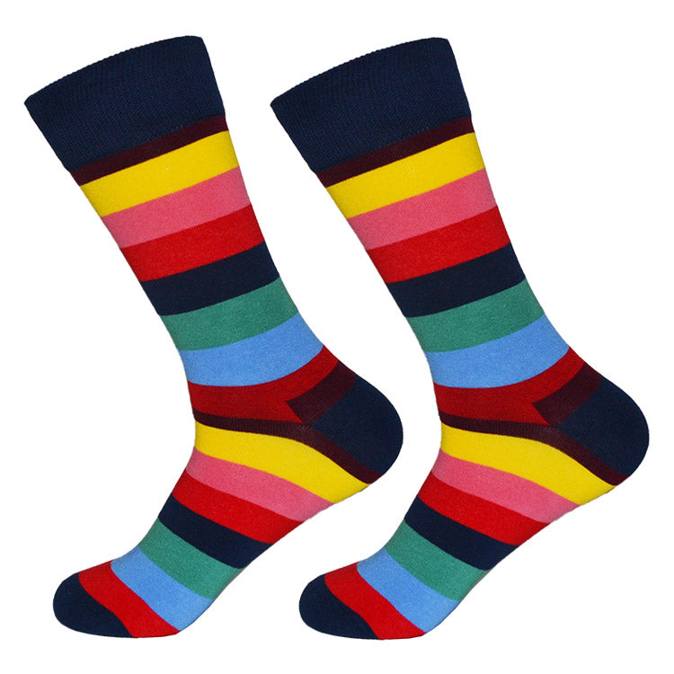 Dutch Pop vesele happy socks pisane nogavice mavrica