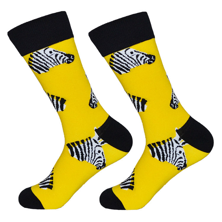 Dutch Pop vesele happy socks pisane nogavice zebra