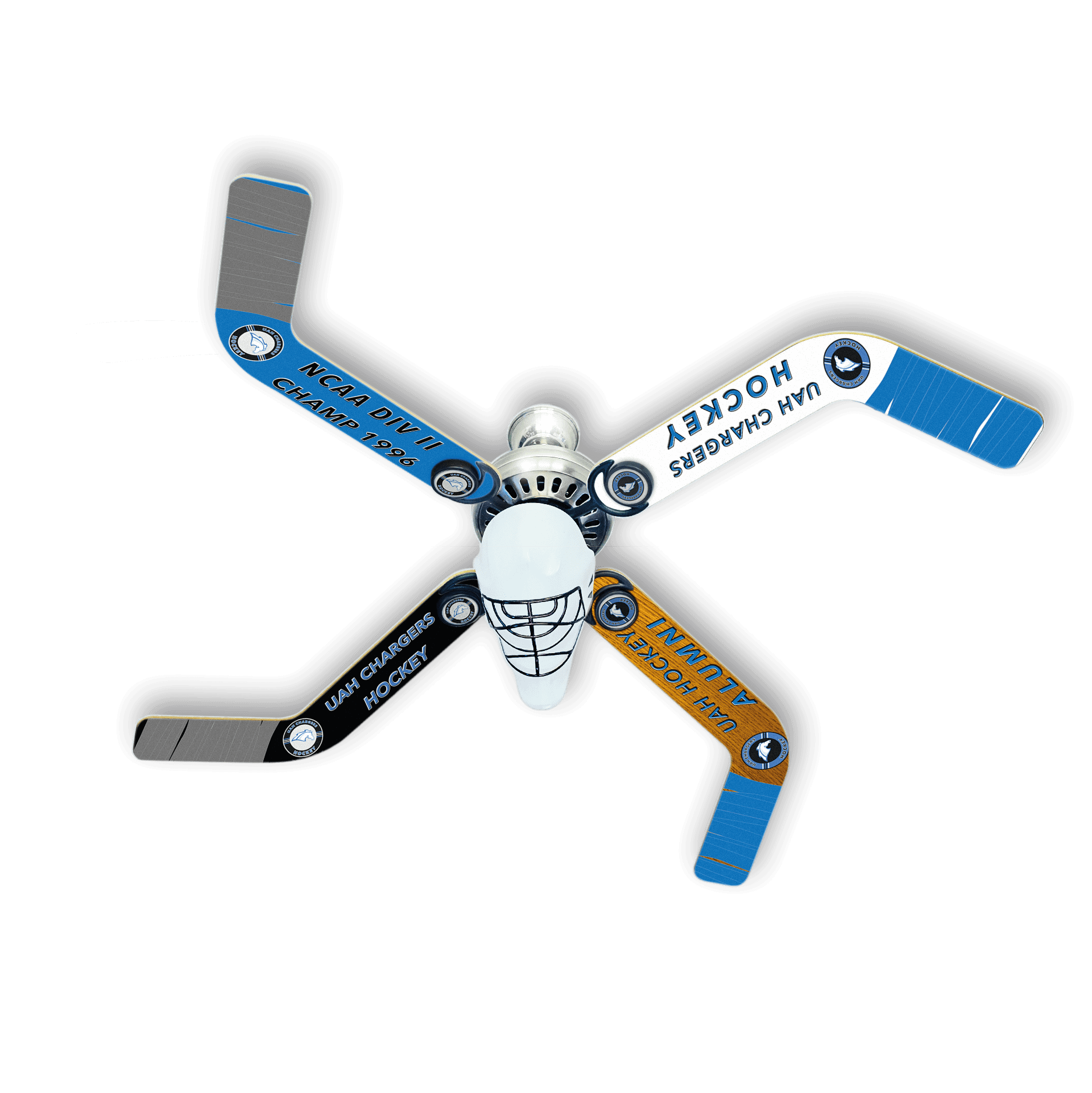 UAH Chargers Hockey Commemorative Fan - Ultimate Hockey Ceiling Fans