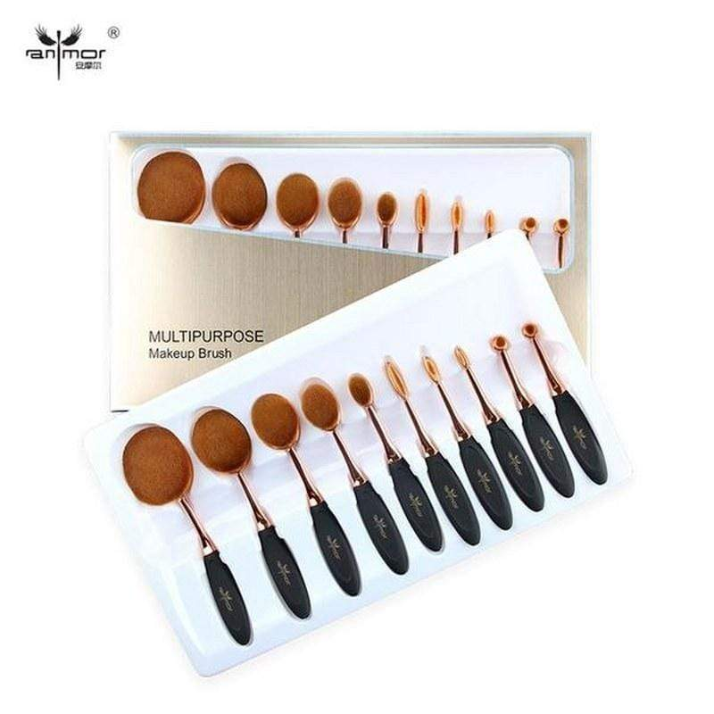 Anmor Oval Multi Brush Set 10Pcs - ModernMua