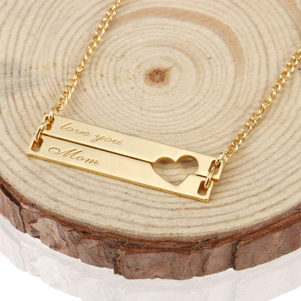 Relatively Personalized Double Bar Necklace – Viox TY14