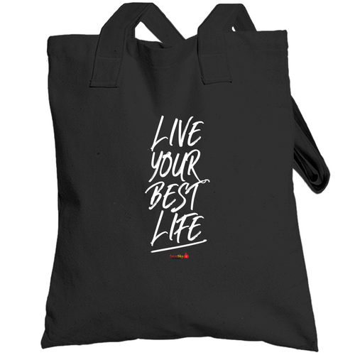Live Your Best Life - Black Tote-bag