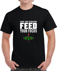 Classic T-shirt Black - Feed Your Focus