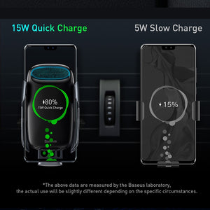 15W Car FastWireless Charger For iPhone & Android