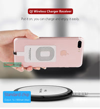 Wireless Charger Receiver for iPhone and Android Micro Type-C