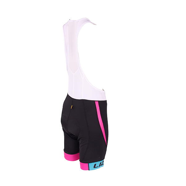Ladies Cycling Bib: Minka White & Black