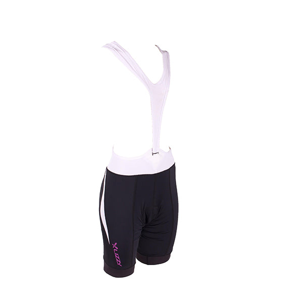 Ladies Cycling Bib: Neola White & Black