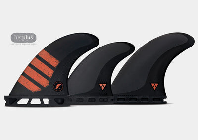 F4 Alpha 5-Fin Set (carbon/ red)