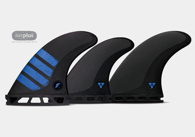 F6 5-Fin Set (Carbon/ Blue)