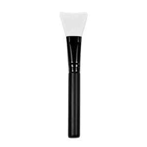 Black Wooden Handle With White Silica Applicator Brush