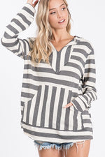 Load image into Gallery viewer, Sophie Striped Hoodie