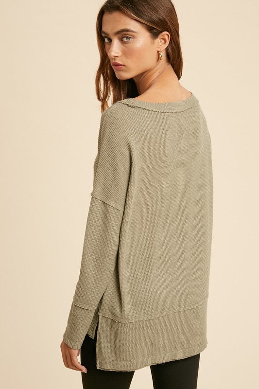 Annie Olive Thermal Top