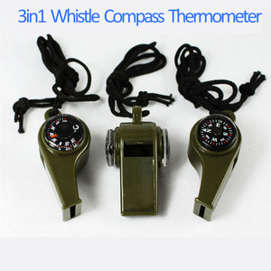 Whistle Compass 3 in1 Survival - Hobbiya Limited