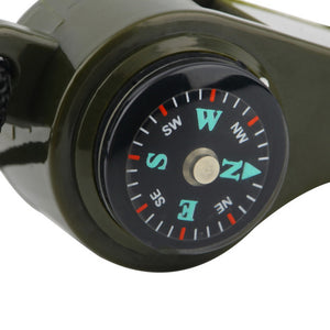 1PC New black Whistle Compass 3 in1 Survival - Hobbiya Limited