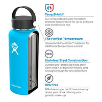 Hydro Flask Water Bottle - Stainless Steel & Vacuum Insulated - WM  with Straw Lid -hobbiya.com