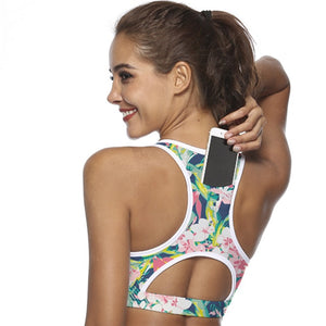 Women Sports Bra with Phone Pocket - Hobbiya Limited