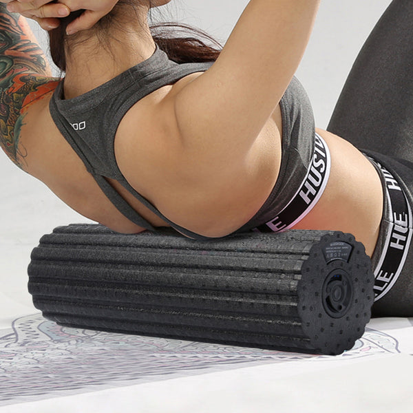 Electric 4-Speed Vibrating Foam Roller For Muscle Massage - Hobbiya Limited