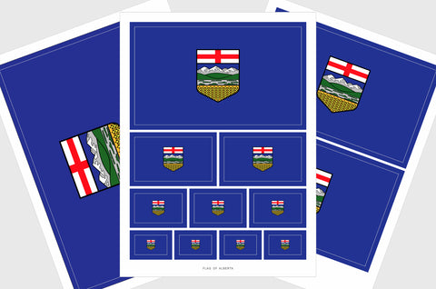 Alberta Flag Sticker, Weatherproof Vinyl Albertan Flag Stickers