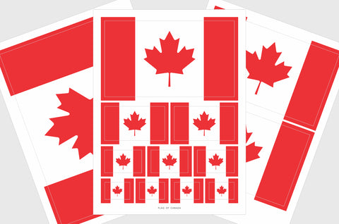 Canada Flag Sticker, Weatherproof Vinyl Canadian Flag Stickers