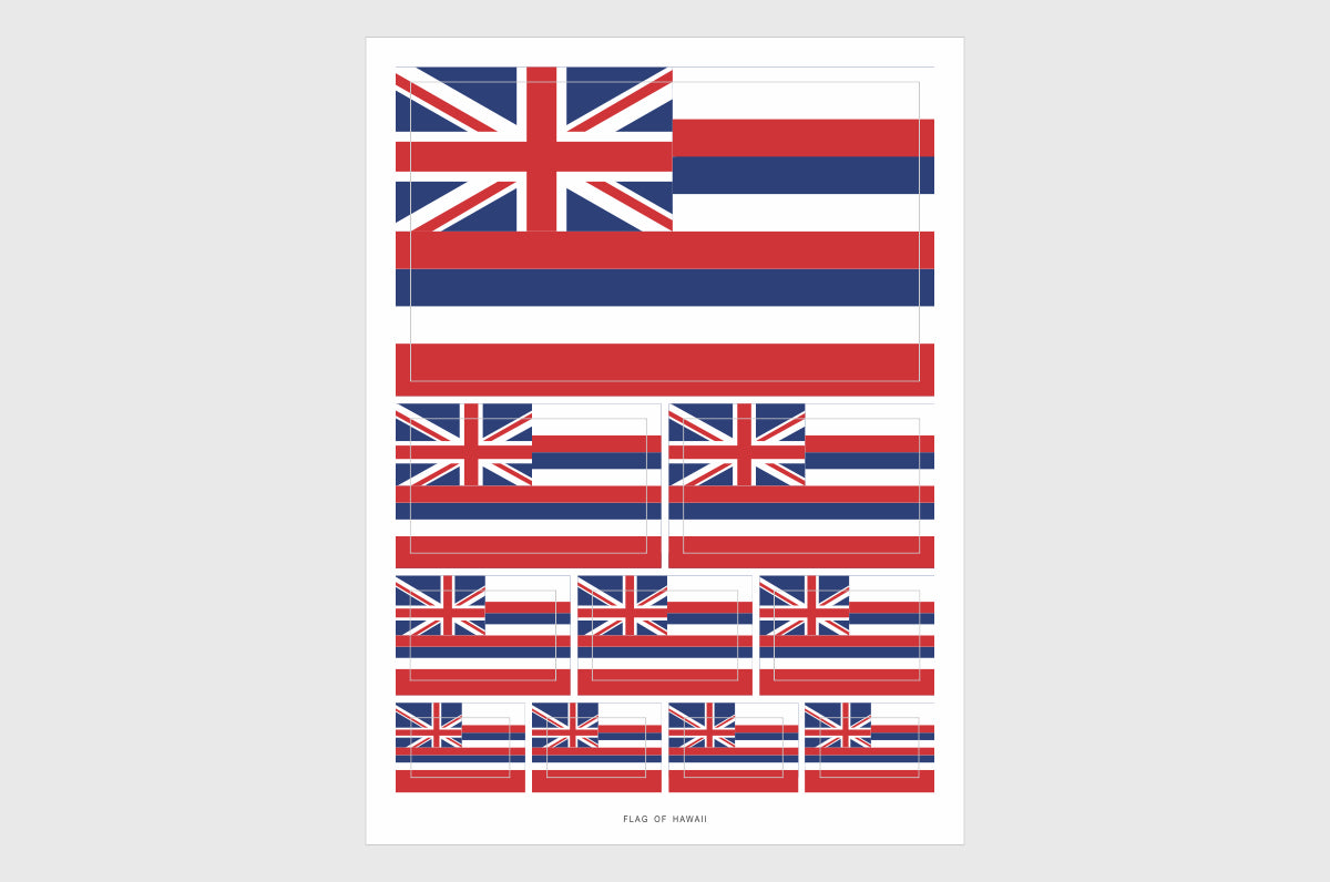 Hawaii Flag Sticker, Weatherproof Vinyl Hawaii Flag Stickers