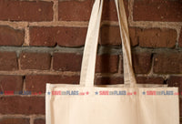 The Long Handles of the Agender Flag Heavyweight Canvas Pocket Grocery Shopping Tote Bag