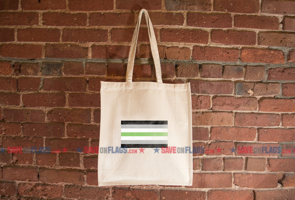 Agender Flag Heavyweight Canvas Pocket Grocery Shopping Tote Bag