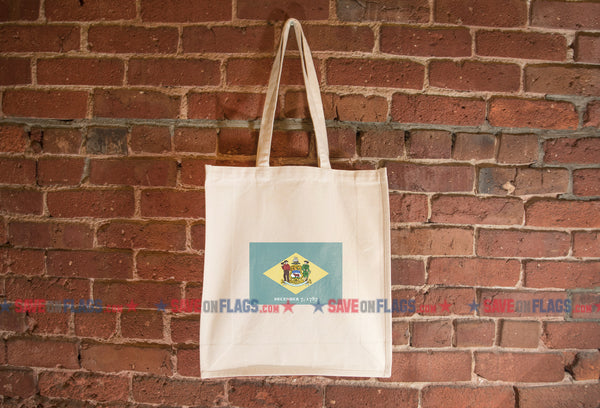 Delaware Flag Tote Bag