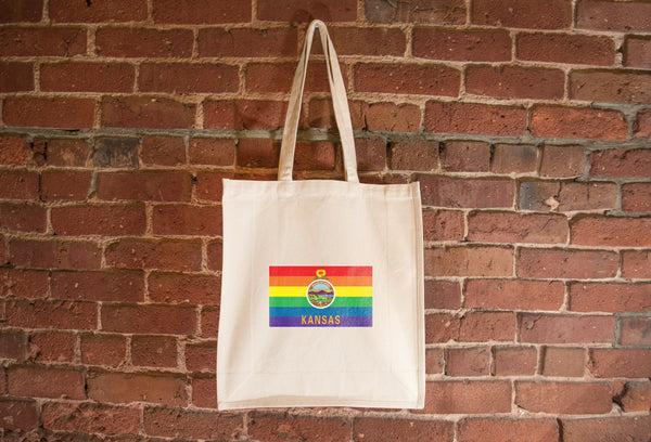 Kansas Pride Flag Tote Bag