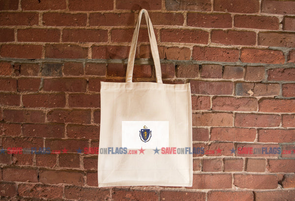 Massachusetts Flag Tote Bag