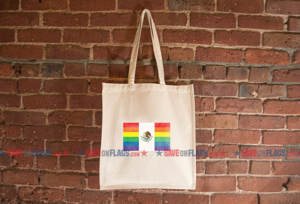 Mexico LGBT Pride Flag Tote Bag