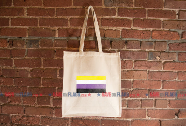 Non-Binary Pride Flag Tote Bag